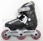 Nijdam 52-QI inline skates verstelbaar 27-30 zwart / rood
